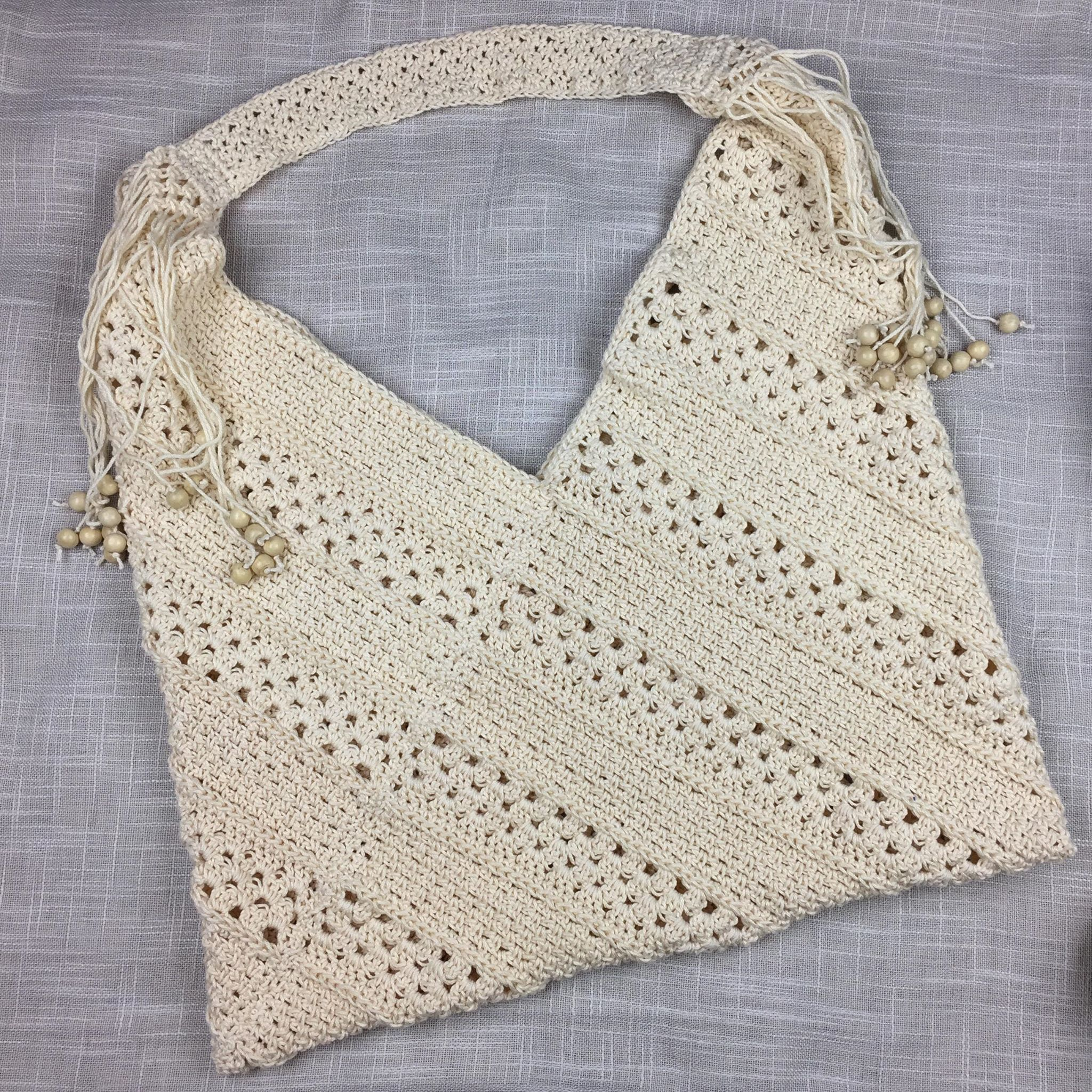 Free Crochet Tote Bag Pattern - On the Bias Tote Bag by A Crocheted Simplicity #crochetbag #crochetbagpattern #freecrochetbagpattern #freecrochetpattern #crochettotebag #crochetpattern