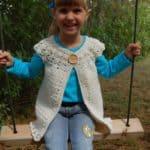 Crochet Cardigan Pattern - Girls Classic Charm Cardigan by A Crocheted Simplicity #crochetcardigan #girlscardigan #crochetforgirls #crochetsweater #crochetcardiganpattern #crochetpattern #handmadecardigan