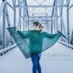 Crochet Pattern - Coachella Shawl by A Crocheted Simplicity #crochet #crochetshawl #crochetwrap #crochetshawlpattern #lionbrandtouchofmerino