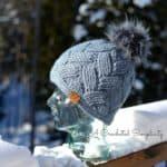 Crochet Cabled Hat Pattern - Cross Country Beanie, Slouch & Headwarmer by A Crocheted Simplicity #crochet #crochethat #crochetbeanie #crochetslouch #crochetearwarmer #crochethatpattern #crochetcables #cabledhat #lionbrandtouchofalpaca #crochetpattern #handmade