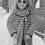Crochet Jacket Pattern - Girls Houndstooth Jacket by A Crocheted Simplicity #crochetjacket #houndstooth #houndstoothjacket #houndstoothsweater #crochethoundstooth #crochetforgirls #crochetsweater #handmadejacket