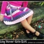 Crochet Skirt Pattern - Making Waves Girls Skirt by A Crocheted Simplicity #crochetskirt #crochetgirlsskirt #crochetskirtpattern #girlsskirtpattern #crochetpattern #handmadeskirt