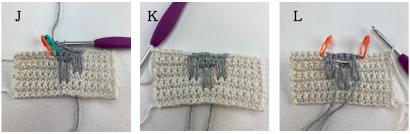 How to crochet spike stitch colorwork