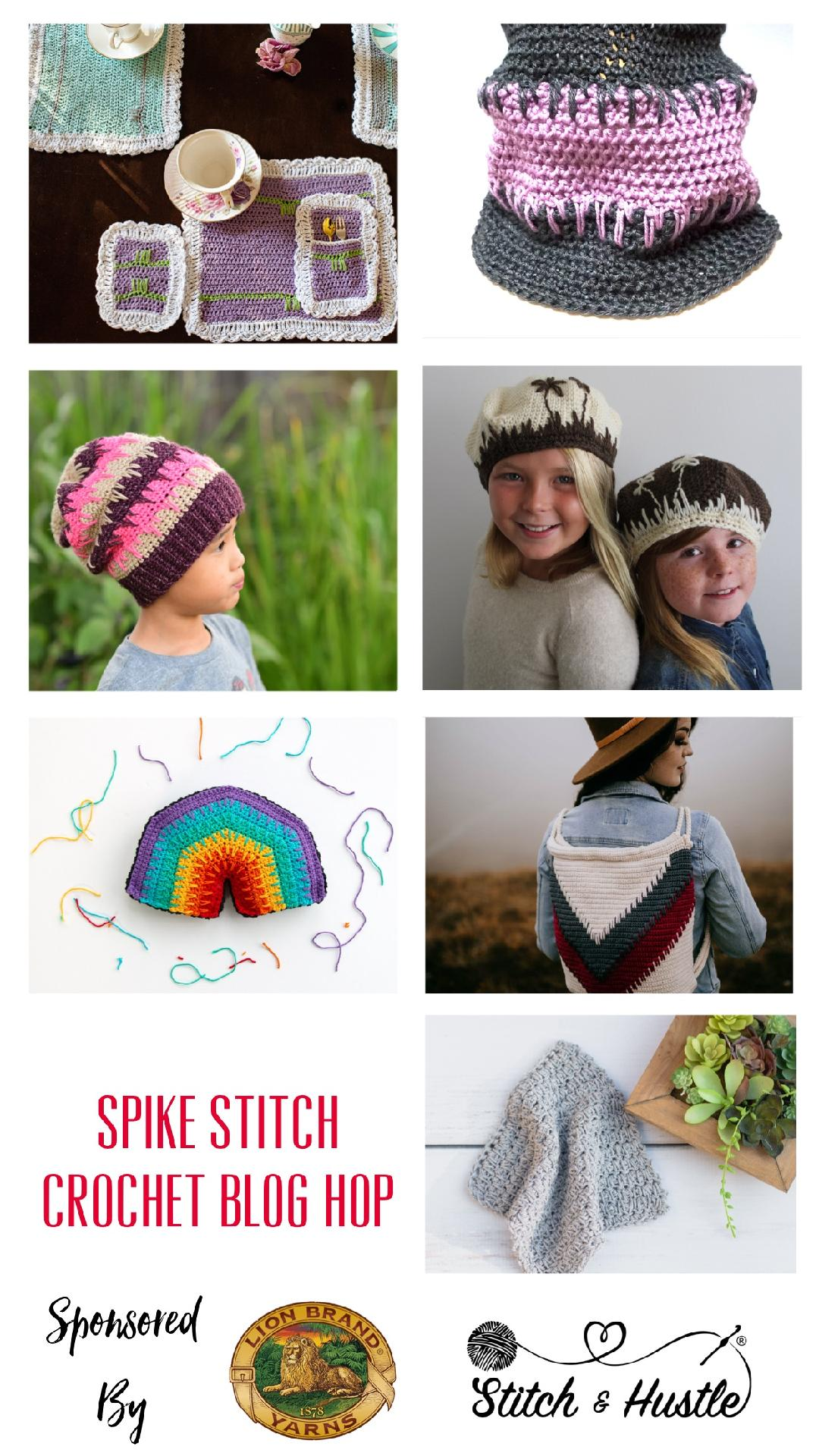 Join us for the Spike Stitch Crochet Blog Hop!!! 7 fantastic designs. Enter to win great prizes!