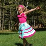 Crochet Skirt Pattern - Sweet & Sassy Girls Skirt by A Crocheted Simplicity #crochetskirtpattern #girlsskirtpattern #crochetskirt #twirlyskirt #crochetforgirls #skirtpattern #handmadeskirt #handmade