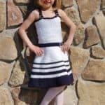 Crochet Sundress Pattern - Sweet & Sassy Sundress by A Crocheted Simplicity #crochetsundress #crochetpattern #girlssundress #girlssundresspattern #crochetsundresspattern #handmadesundress