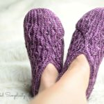 Crochet Slipper Pattern - Winter Waves Kimono Slippers by A Crocheted Simplicity #crochetslippers #kimonoslippers #crochetkimonoslippers #crochetslippersforwomen #womensslippers #crochetforwomen #crochetslipperpattern #crochet #moderncrochet #handmadeslippers