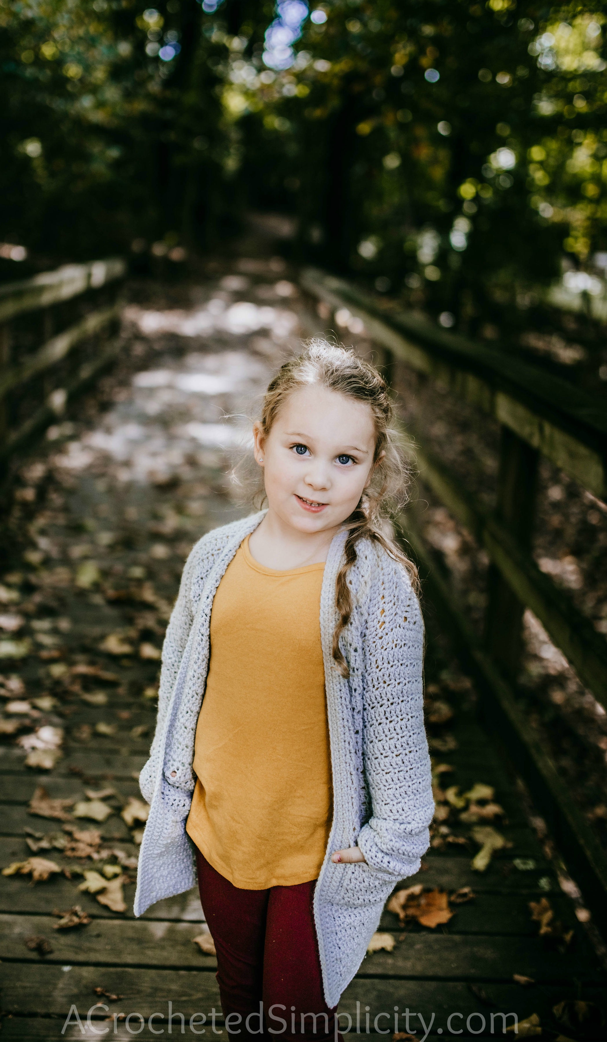 Free Crochet Cardigan Pattern - Aurora Cardigan for Girls by A Crocheted Simplicity #crochet #crochetcardigan #crochetcardiganpattern #freecrochetpattern #crochetsweater #crochetgirlscardigan