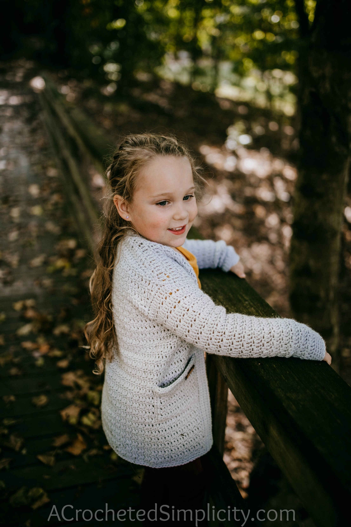 Free Crochet Cardigan Pattern - Aurora Cardigan for Girls by A Crocheted Simplicity #crochet #crochetcardigan #crochetcardiganpattern #freecrochetpattern #crochetsweater #crochetgirlscardigan #handmadecardigan #homemade
