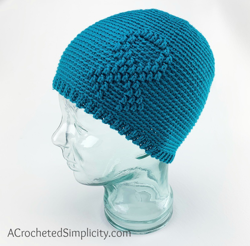 Free Crochet Beanie Pattern - Awareness Ribbon Beanie Crochet Pattern by A Crocheted Simplicity #freecrochetpattern #freecrochetbeaniepattern #crochetawarenesshat #awarenessribbon #awarenessribbonbeanie #cancerawarenessbeanie #chemocap #crochetchemocap #crochetcancerhat #raiseawareness