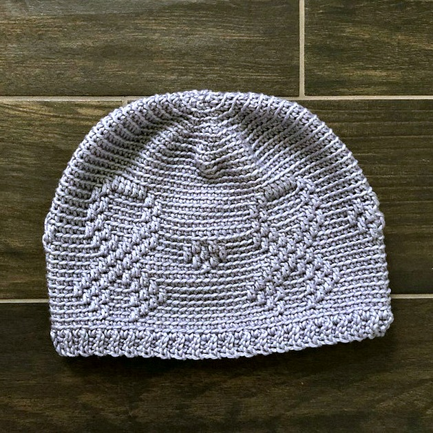 Free Crochet Beanie Pattern - Awareness Ribbon Beanie Crochet Pattern by A Crocheted Simplicity #freecrochetpattern #freecrochetbeaniepattern #crochetawarenesshat #awarenessribbon #awarenessribbonbeanie #cancerawarenessbeanie #chemocap #crochetchemocap #crochetcancerhat #raiseawarenes