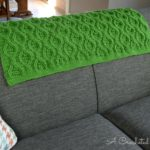 Hourglass Cabled Afghan Crochet Pattern by A Crocheted Simplicity