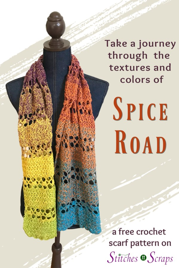 Free Crochet Pattern - Spice Road Scarf by Stitches n' Scraps
