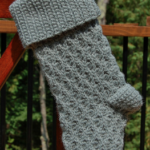 Winter Waves Christmas Stocking Crochet Pattern by A Crocheted Simplicity