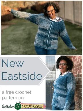 Free Crochet Pattern - New Eastside Cardigan by Stitches n' Scraps