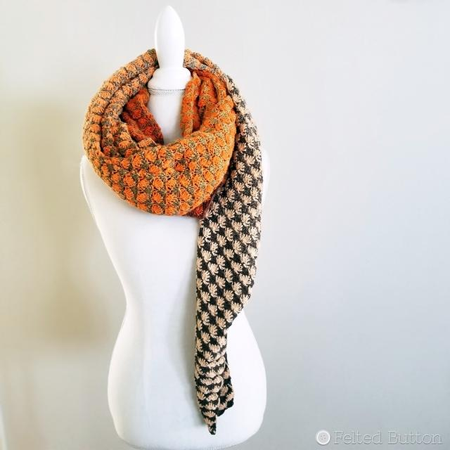 Free Crochet Pattern - Duo Shawl by Susan Carlson of Felted Button