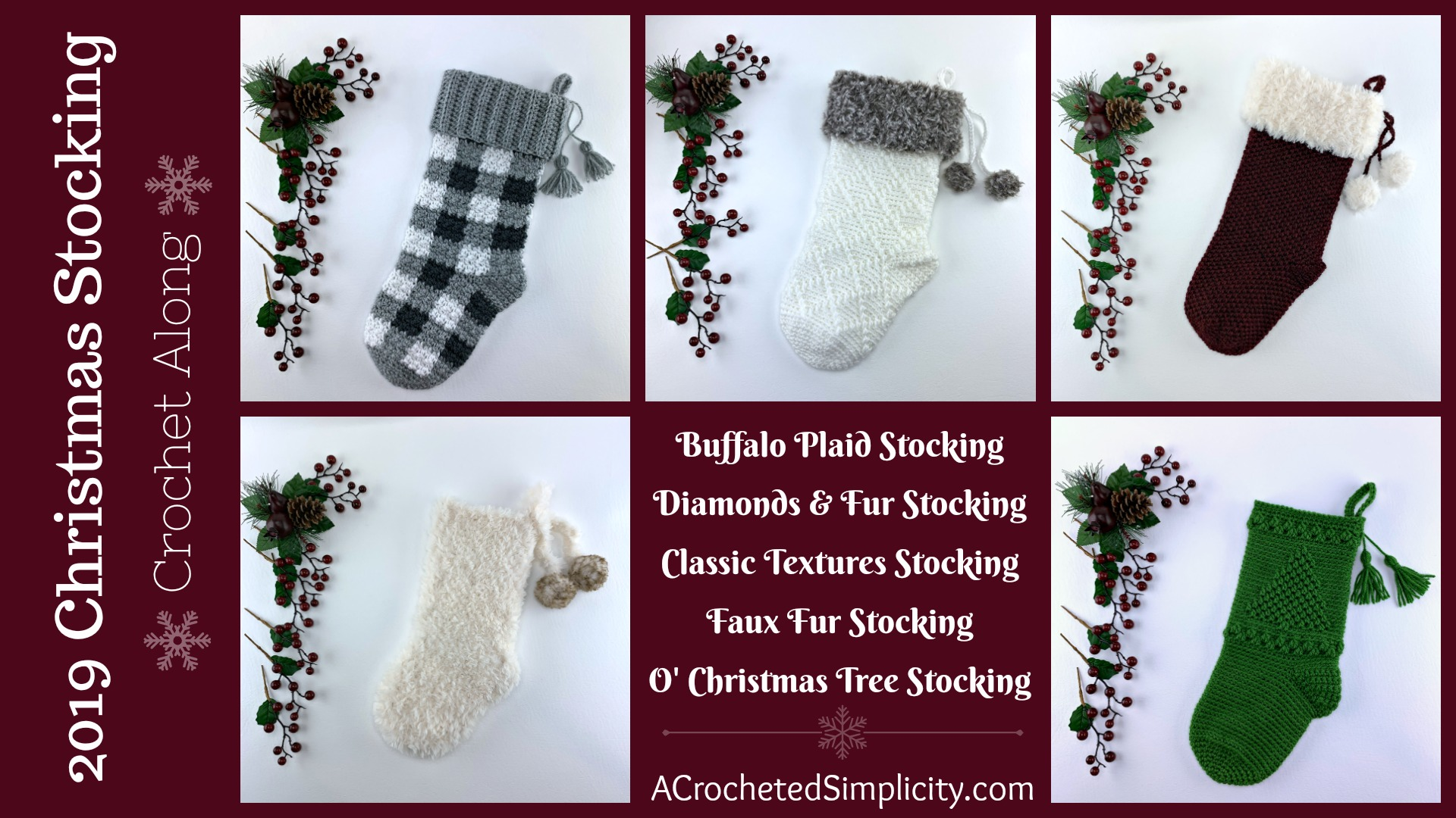 Join us for the 2019 Christmas Stocking Crochet Along! This is a free event for all with weekly prizes. We hope you'll join us!