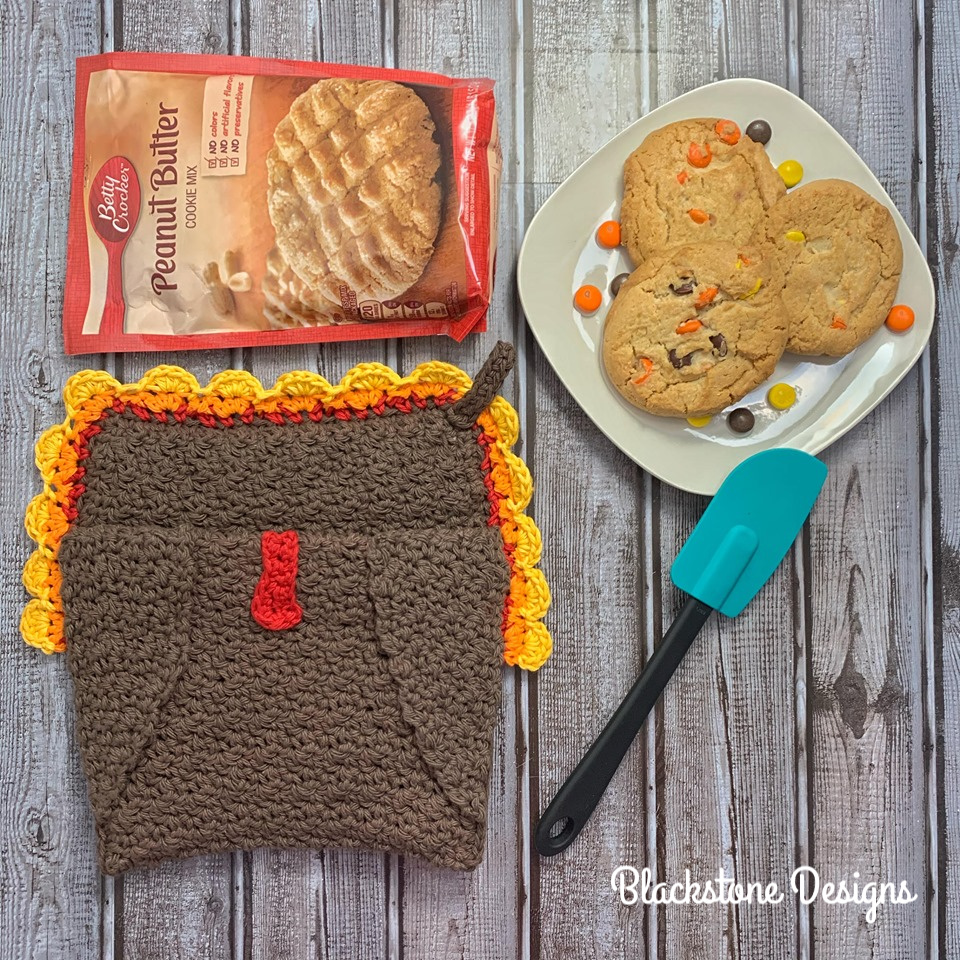 Free Crochet Pot Holder Pattern - Turkey Belly Pot Holder by Blackstone Designs
