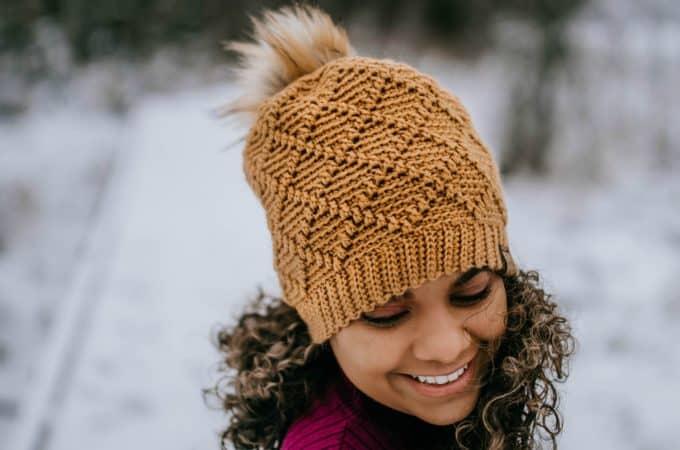 Free Crochet Hat Pattern - Diamonds Beanie, Slouch, Messy Bun & Ear Warmer by A Crocheted Simplicity #crochethat #crochetbeanie #freecrochetpattern #crochetmessybun #crochetearwarmer #handmade #crochetdiamonds