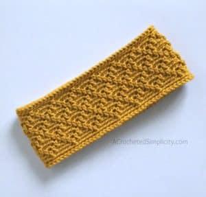 Free Crochet Ear Warmer Pattern - Diamonds Ear Warmer by A Crocheted Simplicity #crochetearwarmer #freecrochetpattern #freecrochetearwarmer #handmade #crochetheadwarmer #crochetdiamonds