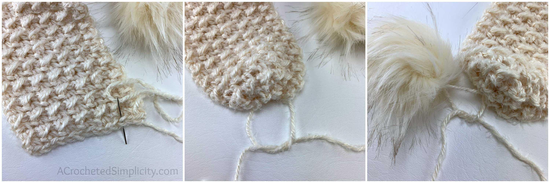 winter's edge scarf tutorial collage