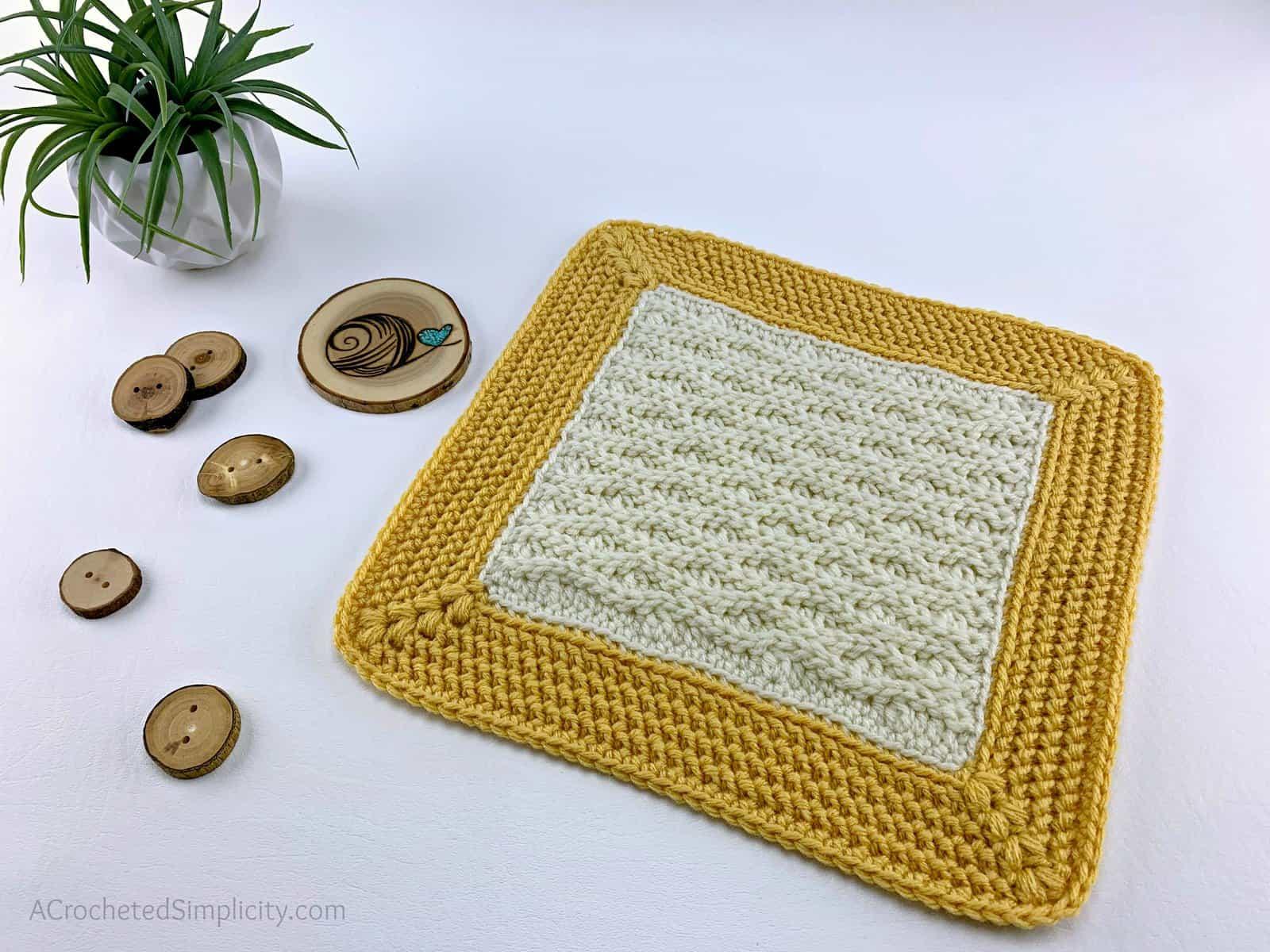 "Free Crochet Afghan Square - Triple Textures 12"" Afghan Square by A Crocheted Simplicity #freecrochetpattern #crochetafghansquare #12incheafghansquare #freecrochetblanketsquare #crochettextures #crochetafghan #crochetblanket"