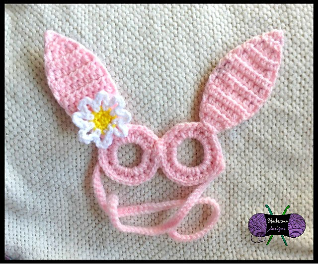 Free Crochet Pattern - Bunny & Sheep Mask Glasses by Blackstone Designs