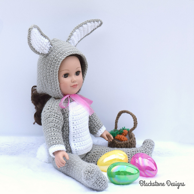 Crochet Doll Pattern - Bunny Costume Doll Pattern by Blackstone Designs
