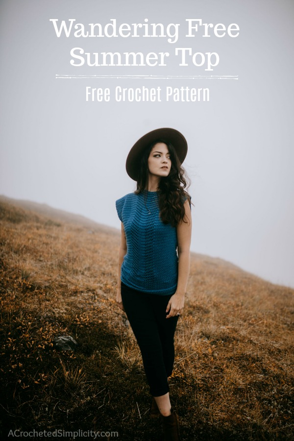 Free Crochet Top Pattern - Wandering Free Summer Top by A Crocheted Simplicity #freecrochetpattern #summertop #summercrochetfashion #freecrochettoppattern #crochet #handmadesummertop #crochetsummertop