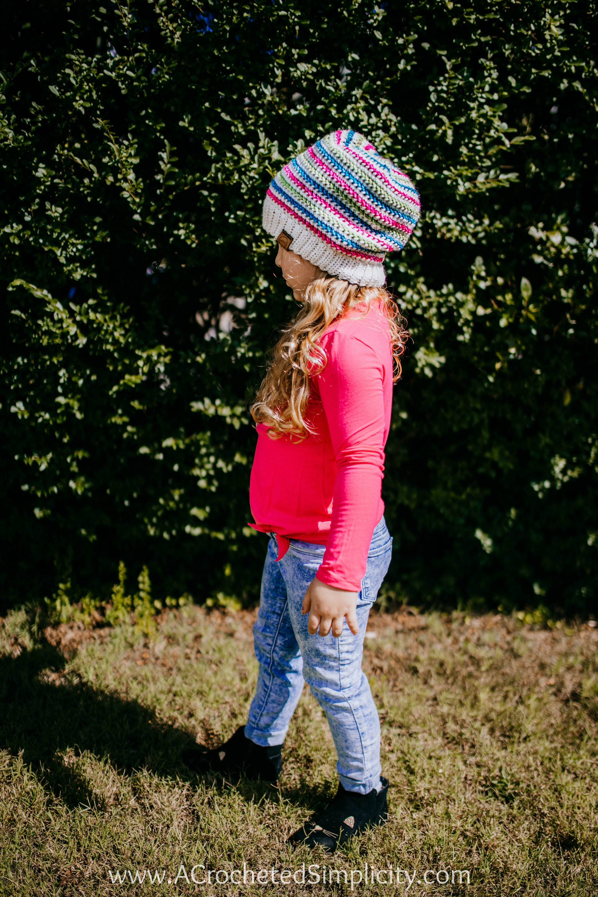 Free Crochet Hat Pattern - Aurora Slouch by A Crocheted Simplicity. #freecrochetpattern #freecrochethatpattern #freecrochetslouchpattern #crochethat #crochetslouch #handmade #crochet