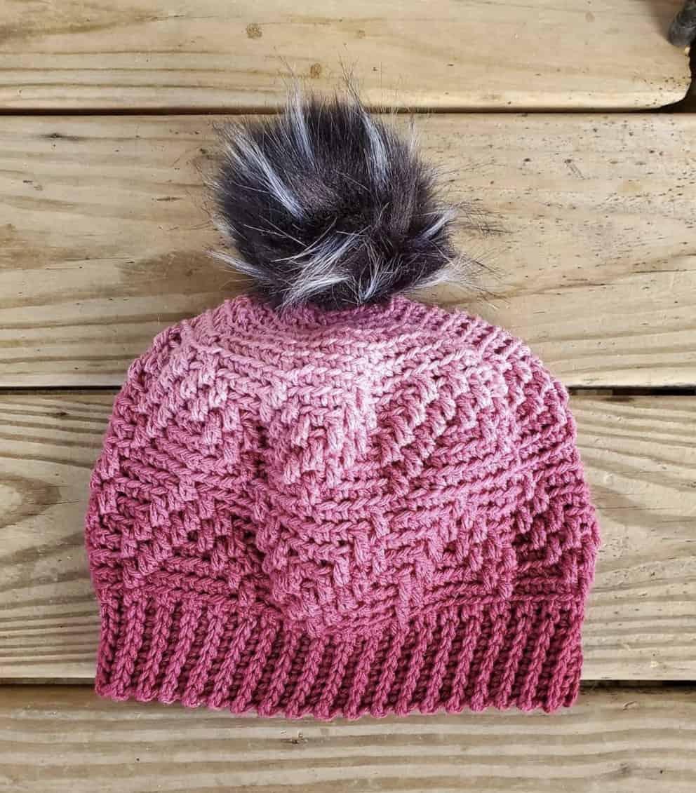 Free Crochet Hat Pattern - Arrows Beanie & Slouch by A Crocheted Simplicity #freecrochetpattern #freecrochethatpattern #crochethatpattern #crochetbeaniepattern #crochetslouchpattern #crochetbeanie #crochethat #crochetslouch #texturedcrochet #crochetstyle