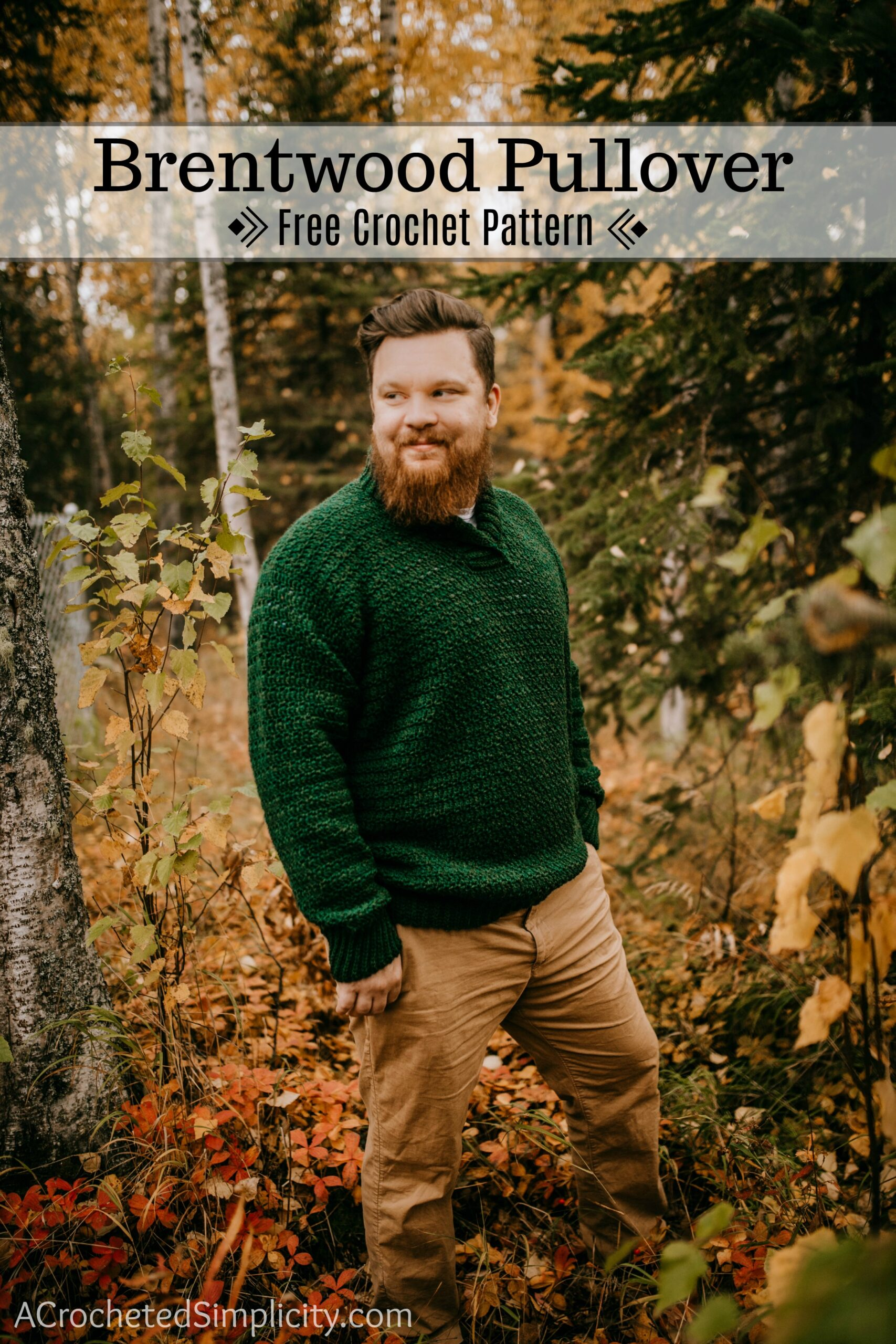 Brentwood Men S Pullover Free Crochet Sweater Pattern A Crocheted Simplicity