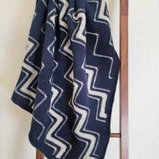 Free Crochet Blanket Pattern - Diagonal Chevron Lapghan by A Crocheted Simplicity #freecrochetpattern #freecrochetblanketpattern #crochetlapghanpattern #crochetblanketpattern #crochetrippleblanket #crochetchevronblanket #crochetchevron #c2ccrochet #cornertocornercrochet #crochetlapghan #crochetafghan